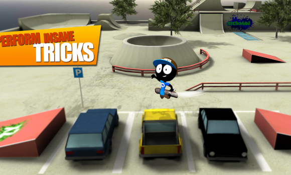 Stickman Skate Battle Ekran Görüntüleri - 3