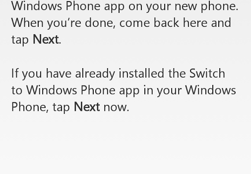 Switch to Windows Phone Ekran Görüntüleri - 4