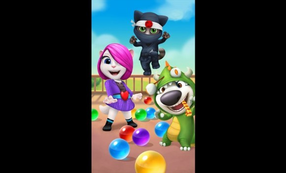 Talking Tom Bubble Shooter Ekran Görüntüleri - 2