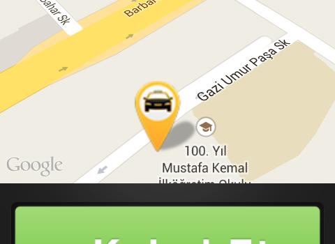 TaxiBUL Sürücü Ekran Görüntüleri - 1