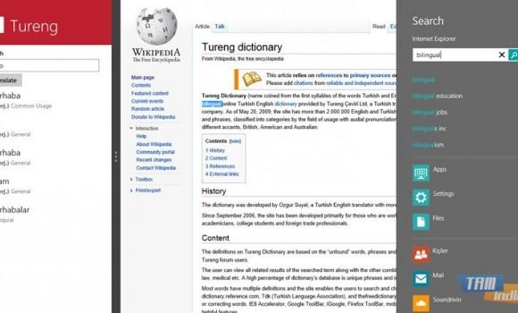 Tureng Sözlük (Windows 8) Ekran Görüntüleri - 1