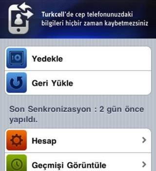 Turkcell Yedek Ekran Görüntüleri - 3