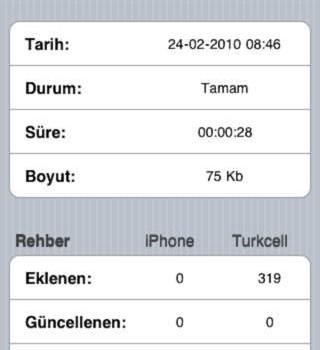 Turkcell Yedek Ekran Görüntüleri - 2