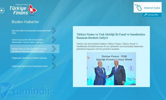 Türkiye Finans Ekran Görüntüleri - 1