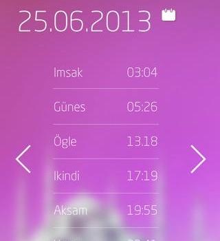 Vestel Mobil İmsakiye Ekran Görüntüleri - 1