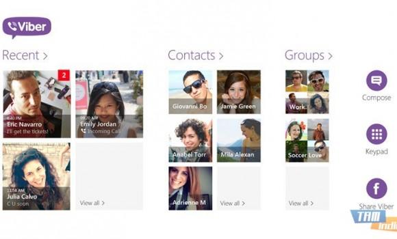 Viber (Windows 8) Ekran Görüntüleri - 3