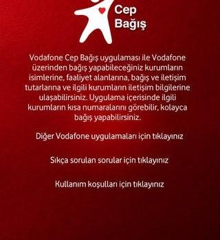 Vodafone Cep Bağış Ekran Görüntüleri - 1