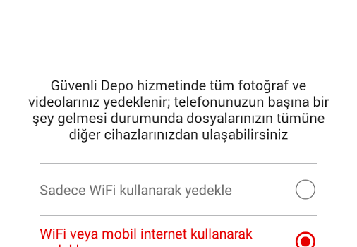 Vodafone Güvenli Depo Ekran Görüntüleri - 5