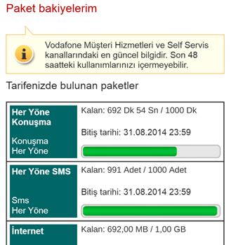 Vodafone Self Servis Ekran Görüntüleri - 3