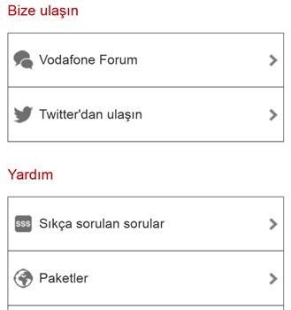 Vodafone Self Servis Ekran Görüntüleri - 2