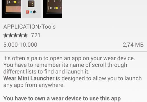 Wear Store for Android Wear Ekran Görüntüleri - 3