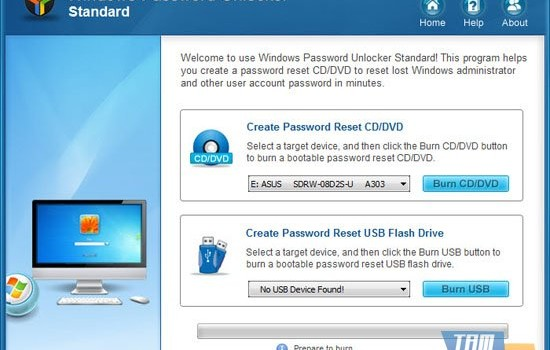 Windows Password Unlocker Standard Ekran Görüntüleri - 1