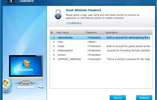 Windows Password Unlocker Standard Ekran Görüntüleri - 2