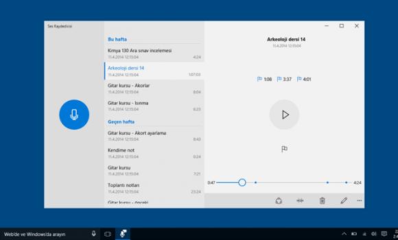 Windows Voice Recorder Ekran Görüntüleri - 3
