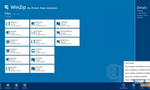 WinZip (Windows 8) Ekran Görüntüleri - 3