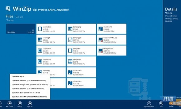 WinZip (Windows 8) Ekran Görüntüleri - 2