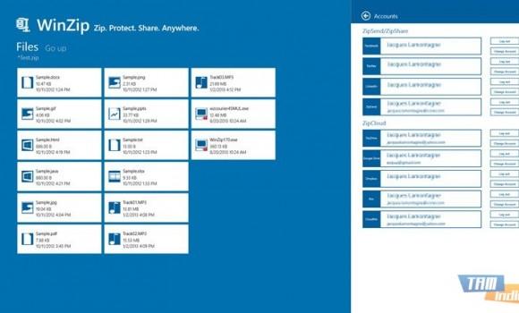 WinZip (Windows 8) Ekran Görüntüleri - 1