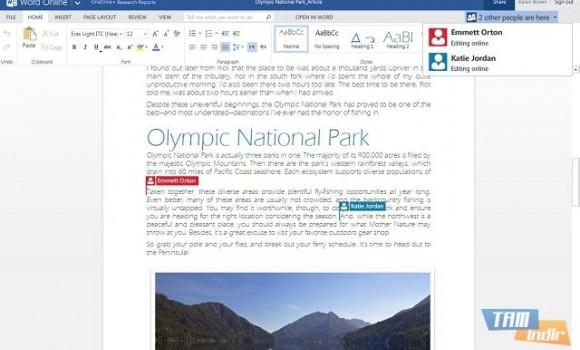 Word Online Ekran Görüntüleri - 1