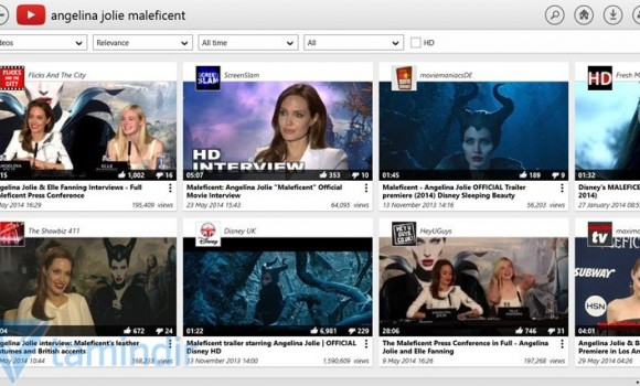 YouTube for Windows 8 Ekran Görüntüleri - 1