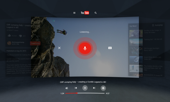 YouTube VR Ekran Görüntüleri - 1