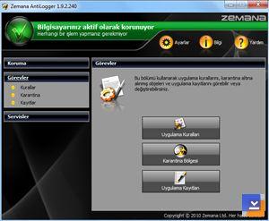Zemana AntiLogger Ekran Görüntüleri - 1