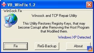 WinSock XP Fix Ekran Görüntüleri - 1