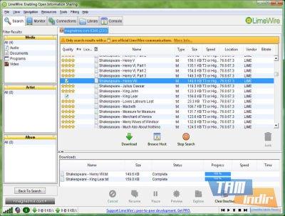 LimeWire Ekran Görüntüleri - 1
