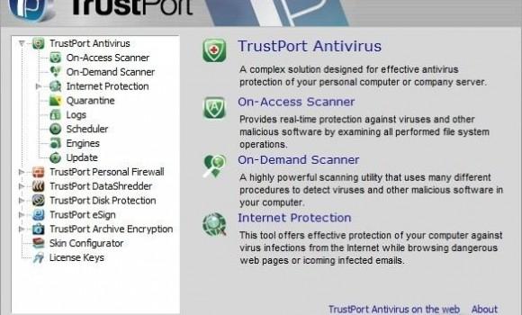 TrustPort PC Security Ekran Görüntüleri - 1