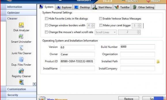 Vista Manager Ekran Görüntüleri - 2
