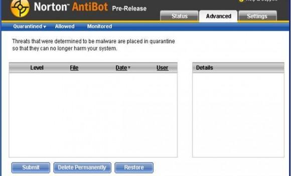 Norton AntiBot Ekran Görüntüleri - 1