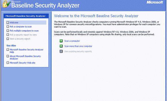 Microsoft Baseline Security Analyzer Ekran Görüntüleri - 1