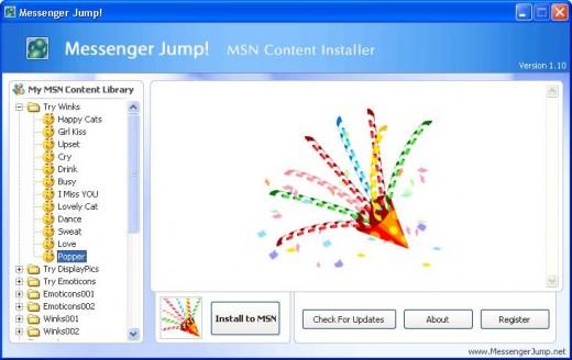 Messenger Jump MSN Winks Installer Ekran Görüntüleri - 1