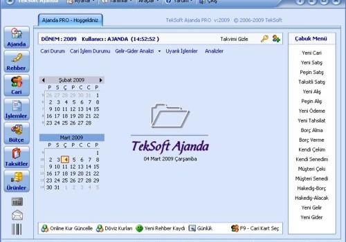 TekSoft Ajanda PRO v1.1 Ekran Görüntüleri - 1