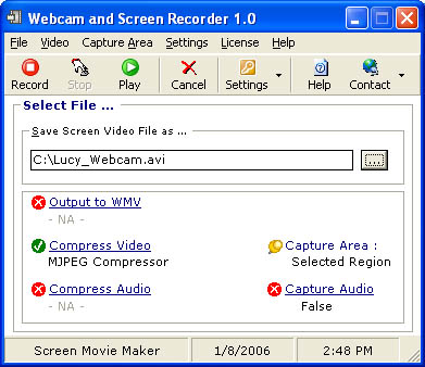 Webcam and Screen Recorder Ekran Görüntüleri - 1