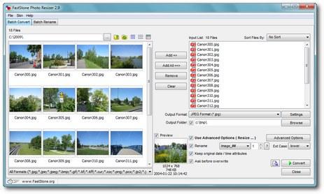 FastStone Photo Resizer Ekran Görüntüleri - 1