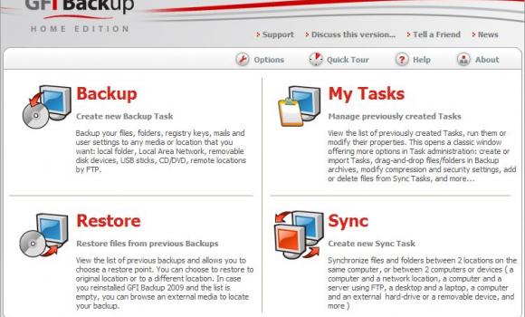 GFI Backup 2009 Home Edition Ekran Görüntüleri - 1