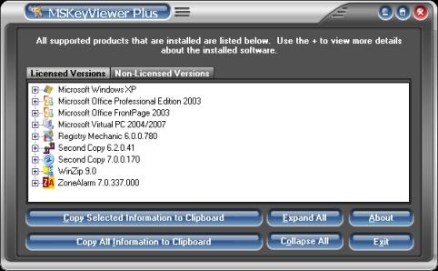 MSKeyViewer Plus Ekran Görüntüleri - 1