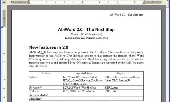 AbiWord Ekran Görüntüleri - 1