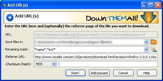 DownThemAll! Ekran Görüntüleri - 3