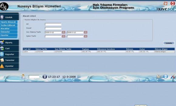 Halı Yıkama Programı Ekran Görüntüleri - 2