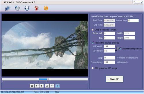 123 AVI To GIF Converter Ekran Görüntüleri - 1