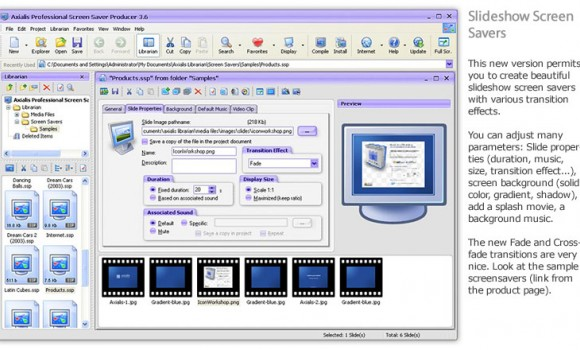 Axialis Professional Screensaver Producer Ekran Görüntüleri - 3