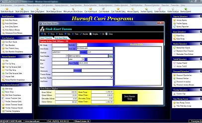 Hursoft Cari Programı Ekran Görüntüleri - 2