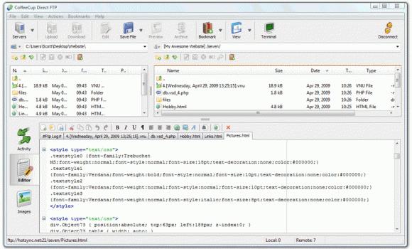 CoffeeCup Direct FTP Ekran Görüntüleri - 1