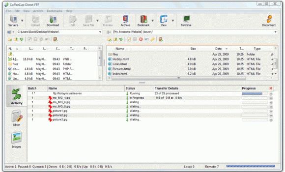 CoffeeCup Direct FTP Ekran Görüntüleri - 2