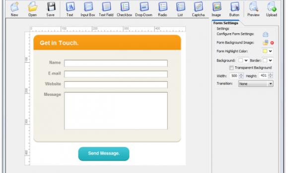 CoffeeCup Web Form Builder Ekran Görüntüleri - 1
