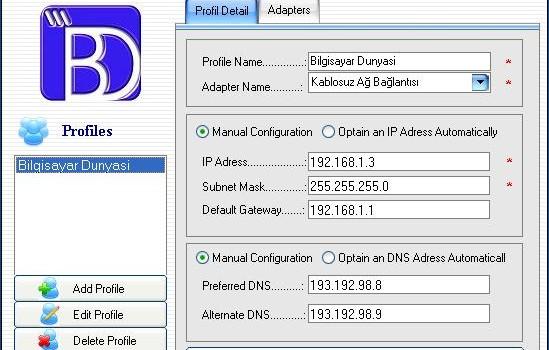 IP Organizer Ekran Görüntüleri - 1