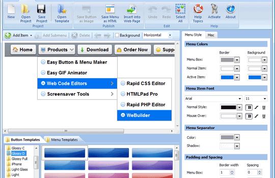 Easy Button & Menu Maker Ekran Görüntüleri - 1