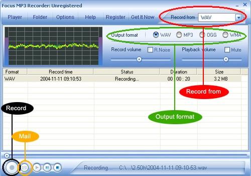 Focus Mp3 Recorder Ekran Görüntüleri - 3