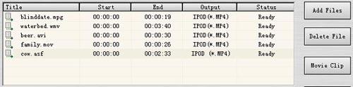 AoA iPod/PSP/3GP/MP4 Converter Ekran Görüntüleri - 1